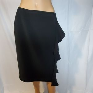 Black Pencil Skirt with Pop of Sass